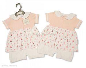 Baby Girls 100% Cotton All in One Summer Dress / Romper - Little Sailor 0-3mths