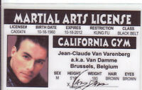 Jean Claude Van Damme - plastic ID card Drivers License - Brussels Belgium