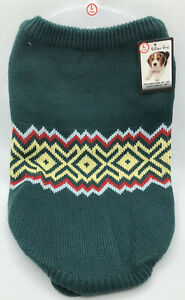 Dog Sweater Green Multicolored Christmas Top By Unique Petz Size Large
