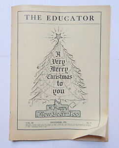 The Educator Magazine Handwriting Engrossing Typography (Dec 1946)