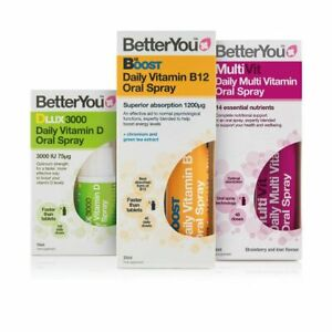 BetterYou Daily Oral Sprays, Vitamins and Minerals - You choose - FAST FREE P&P