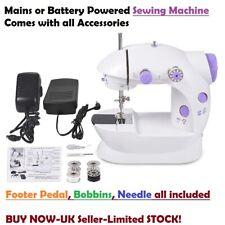 ELECTRIC PORTABLE SEWING MACHINE STITCH LIGHT TRAVEL CRAFT NEW MINI Battery UK