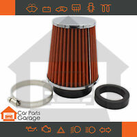 SAAS Performance Small Cone Red Air Pod Filter Chrome Top Multi Fit 60 - 76mm