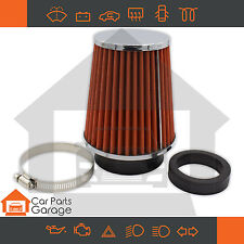 SAAS Performance Small Cone Red Pod Filter Chrome Top Multi Fit Design 60-76mm