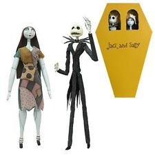 Nightmare B4 Christmas Official JACK & SALLY COFFIN Action FIGURE Set LE 1993 #d