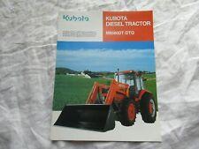 Kubota M8580Dt Dtq tractor brochure