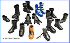 Lot of 4 Pair + 9-1/2 Single Shoes/Boots/Cleats Footware for Action Figures