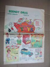 1960 Christmas Toy Multi-Paged Color Brochure Barbie Mattel No. 850 Hubley Tonka