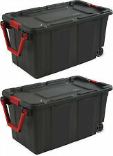 Sterilite 14699002 40 Gallon/151 Liter Wheeled Industrial Tote 23 Pieces
