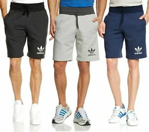 Adidas Original Mens 3 Stripes Essential SPO Shorts Casual Fleece Sports Shorts