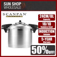 100% Genuine! SCANPAN 24cm 8L Stainless Steel Pressure Cooker! RRP $449.00!