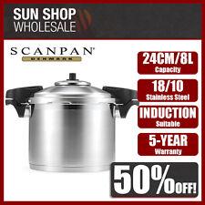 100% Genuine! SCANPAN 24cm 8L Stainless Steel Pressure Cooker! RRP $419.00!