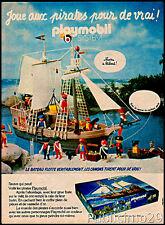 PUB / PUBLICITE ADVERTISING  PLAYMOBIL 1979 vintage *