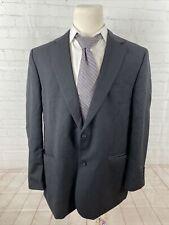 Joseph and Feiss Men's Black Blazer Solid Wool Blazer 48R $495
