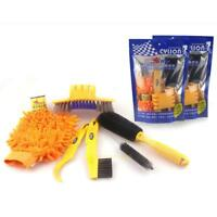 Bicycle Cleaning Tool Kit Chain Cleaner + Tire Brushes + Bike Cleaning Glove Set