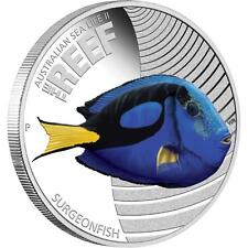 2012 Australian Sea Life, The Reef - Surgeonfish, 1/2oz Silver Proof Coin