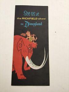 Vintage 1950s Disneyland Park Brochure SEE US At The Richfield Show