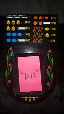 "MILLS ANTIQUE SLOT MACHINE AWARD BIB LARGE WINDOW REPRO 2/4 VAR PAYOUT ""D13"""