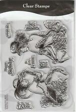 Kanban Clear Rubber Stamps  Moulin Diva  Belle Femme Card Making Crafts New