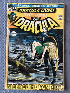 TOMB OF DRACULA #1 Marvel Comics April 1971 * Super 🔑 Bronze Age Book! L😈👿K!