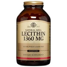Solgar Lecithin 1360 mg 250 Softgels FRESH Made In USA, FREE US SHIPPING