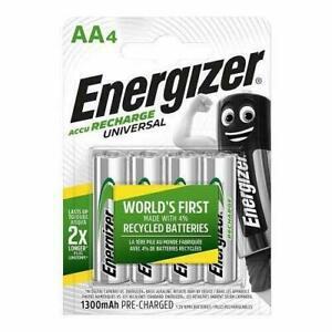 Piles AA rechargeables Energizer Recharge Universal, pack de 4