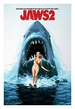 Jaws 2 One Sheet Poster 24 x 36 Movie Shark Ocean Teeth Horror Classic Gift 1978