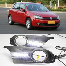 2x Car LED Daytime Running Driving light Fog Fit For Volkswagen VW Golf MK6