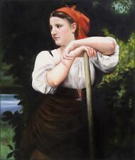 Quality Hand Painted Oil Painting Repro Bouguereau The Haymaker 20x24in