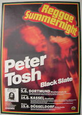 PETER TOSH CONCERT TOUR POSTER 1981 WANTED DREAD & ALIVE BOB MARLEY