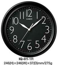 AUSTRALIAN SELER CASIO WALL CLOCK IQ-01-1R IQ01 IQ-01 BLACK 12-MONTH WARANTY