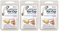 3 Pack PediFix Nylon-Covered Toe Cap Medium 1 Each