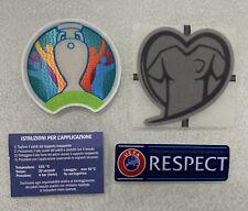 Toppa patch Badge Euro 2020 Respect Nazionale Italia no maglia calcio cuore