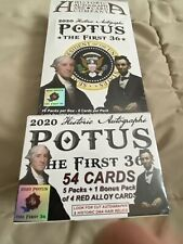 2020 historic autographs potus the first 36 Hobby and Blaster Box Sealed Set