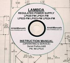 Lambda Lp-520-Fm, Lp-521-Fm, Lp-522-Fm, Lp523-Fm,Lp524-Fm, Ops & Service Manual