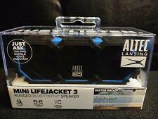 ALTEC LANSING MINI LIFEJACKET 3 RUGGED BLUETOOTH SPEAKER-NEW Blue IMW478-RYB