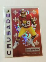 F56977  2018 Rookies and Stars Crusade Red #39 Derrius Guice /99 redskins