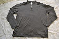 Armani Collezioni Mandarin Collar Men's 3 buttons shirt Size XXL Gray New
