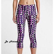 Nike Legend London Diamond Womens Training Capris Tights S Fuchsia Purple New