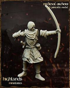 Archers x10, Highland Miniatures, Aos, 9th Age, Bretonnian proxies