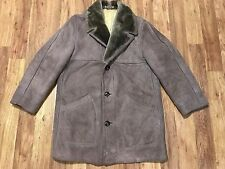 MENS MEDIUM Vtg Californian Spring Lamb Marlboro Man Ranch Shearling Coat Jacket