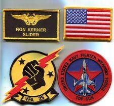 RON SLIDER KERNER TOP GUN MOVIE US NAVY F-14 SQUADRON Movie Costume Patch Set 2