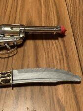 Vintage Mattel Fanner Cap Gun W/Holster & Plastic Knife