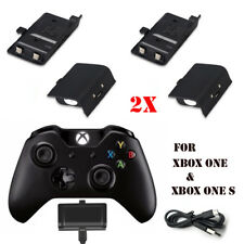 2x 2400mAh Rechargeable Battery Kit Pack For Xbox One & One S with USB Cable UK