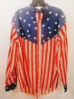 Stars and Stripes Mens Western Rodeo Long Sleeve Shirt by The Look Size X Large