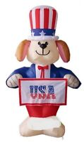 HALLOWEEN JULY 4TH PATRIOTIC MEMORIAL DAY DOG BANNER INFLATABLE AIRBLOWN 6 FT
