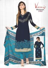 Ethnic Unstitched Salwar Kameez Indian Synthetic Bollywood Designer Crepe Suit