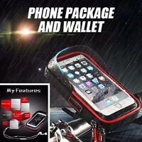 Bike Motorcycle Handlebar Holder Bag For Phone Navigation Money Collect -NEW
