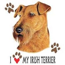 Irish Terrier Love Crew Sweatshirt Pick Your Size Small -5 X Large