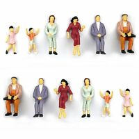 Model People Mini People Figures Painted Train Passenger Toy Miniatures Gift Man